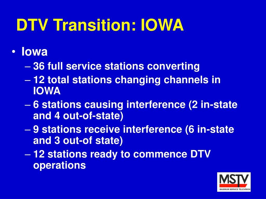 DTV Transition: IOWA