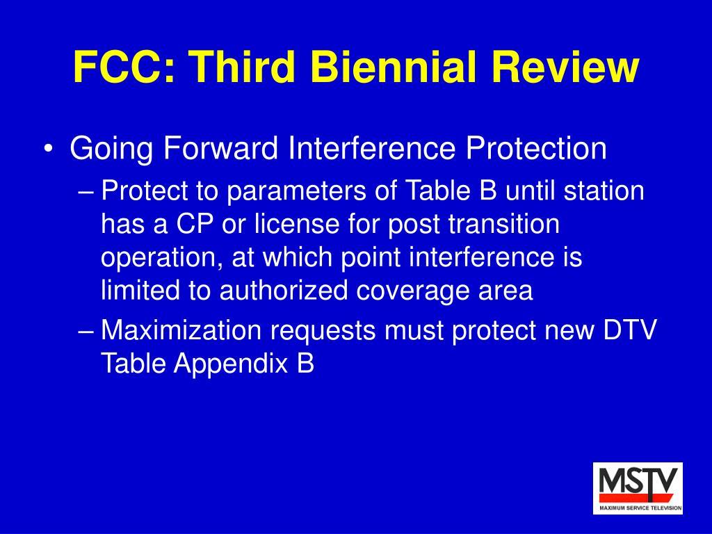 FCC: Third Biennial Review
