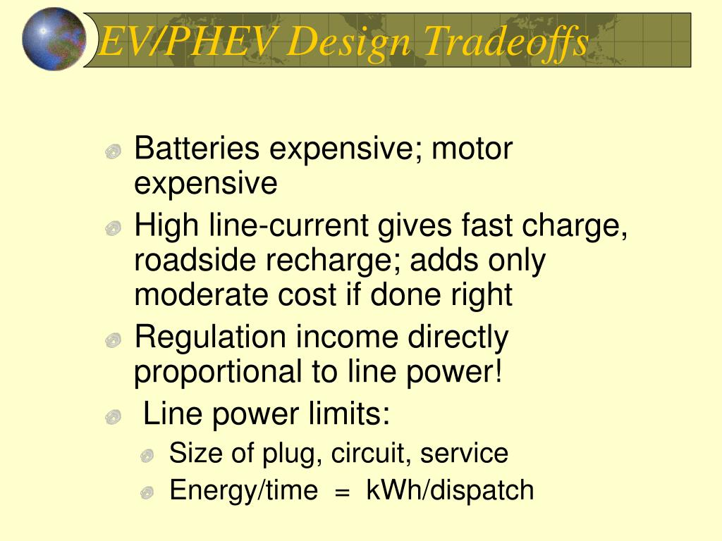 EV/PHEV Design Tradeoffs