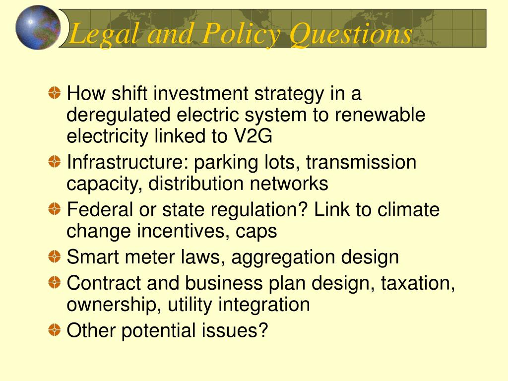 Legal and Policy Questions
