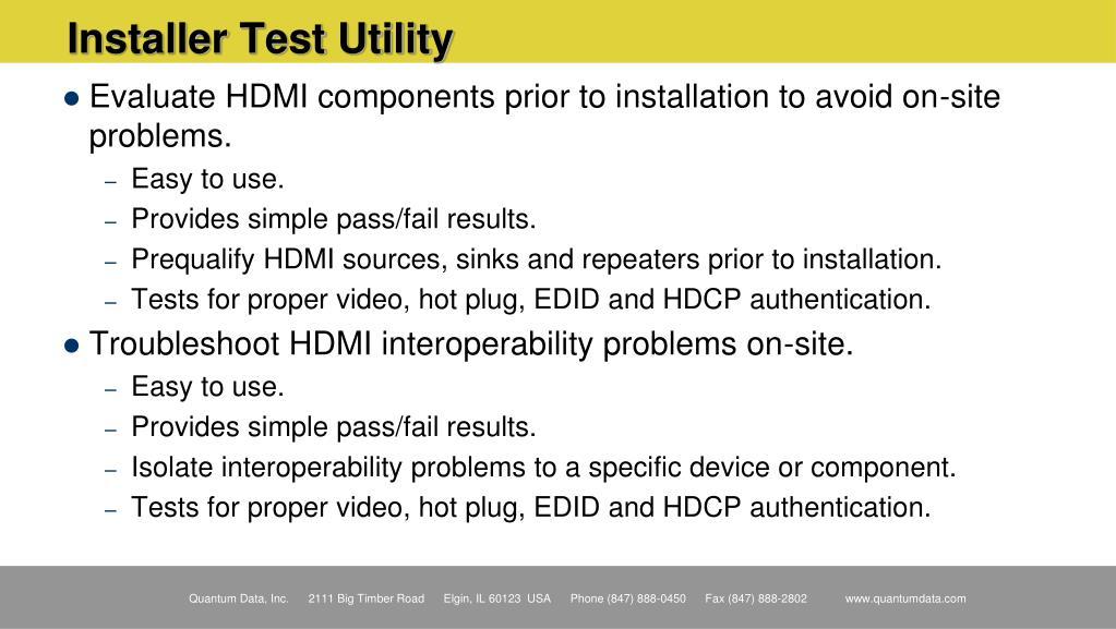 Installer Test Utility