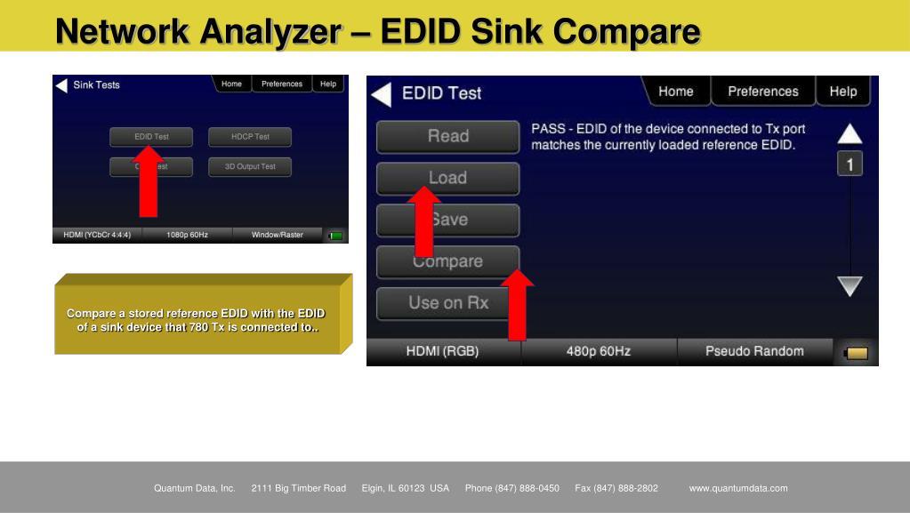 Network Analyzer – EDID Sink Compare