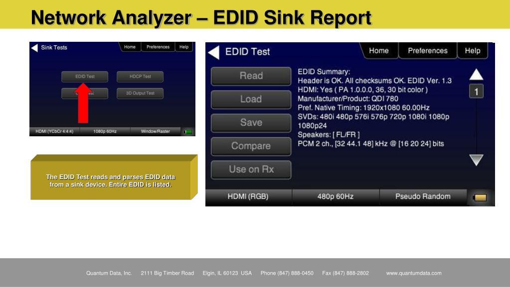 Network Analyzer – EDID Sink