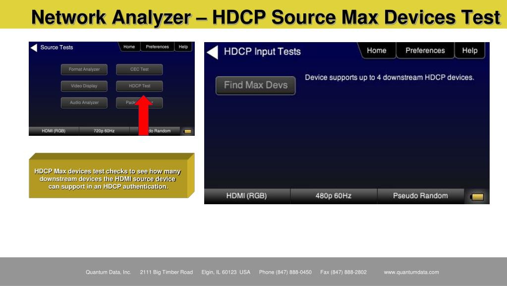 Network Analyzer – HDCP Source Max Devices Test