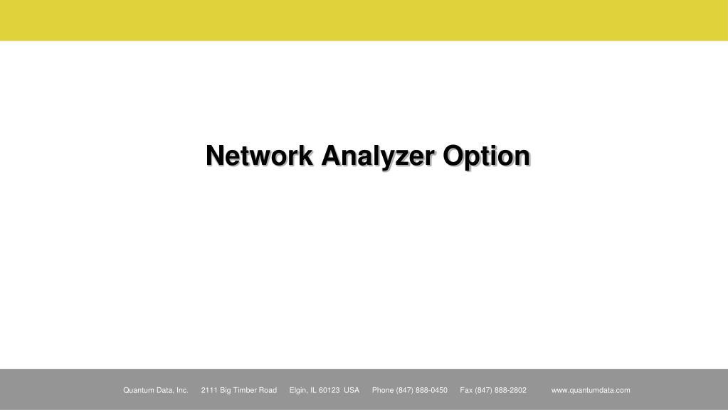 Network Analyzer Option