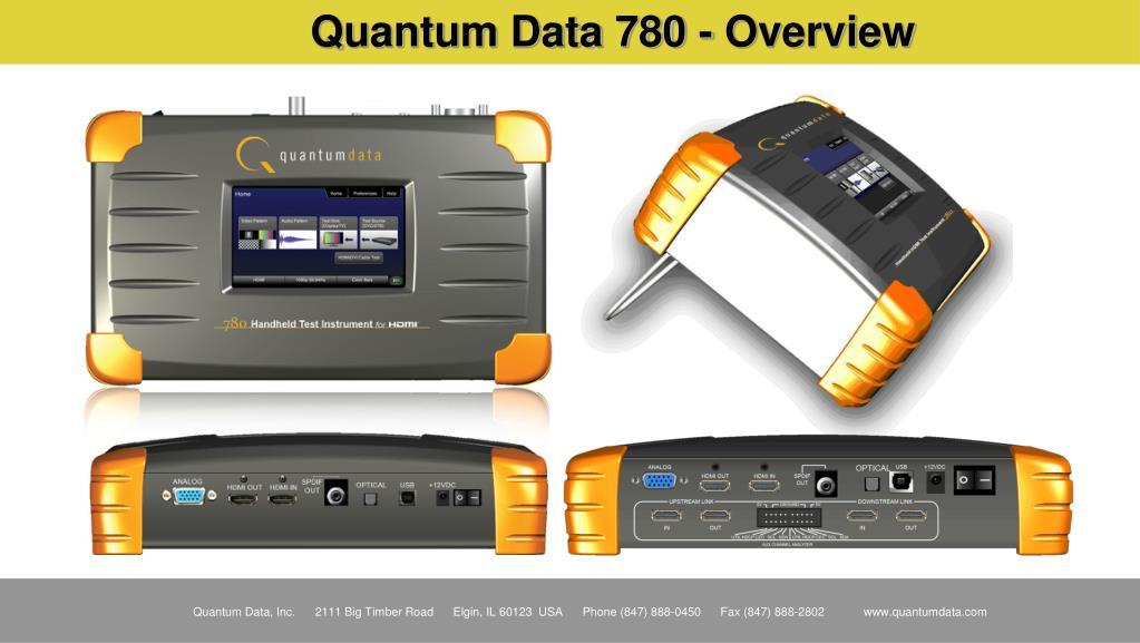 Quantum Data 780 - Overview