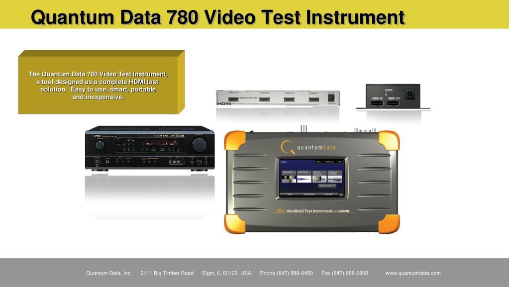 Quantum Data 780 Video Test Instrument