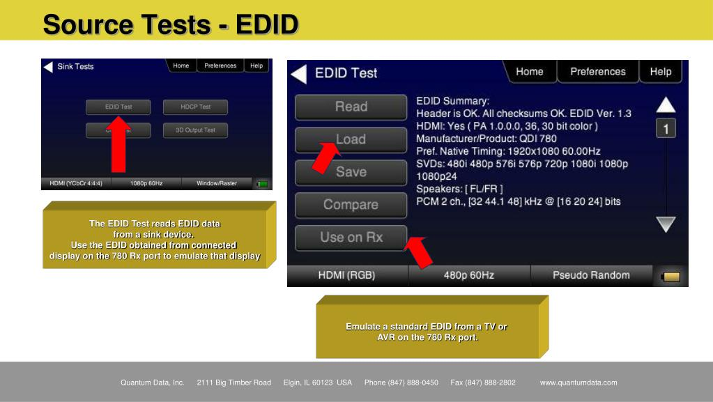 Source Tests - EDID