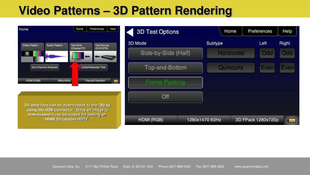 Video Patterns – 3D Pattern Rendering