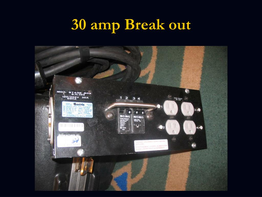 30 amp Break out