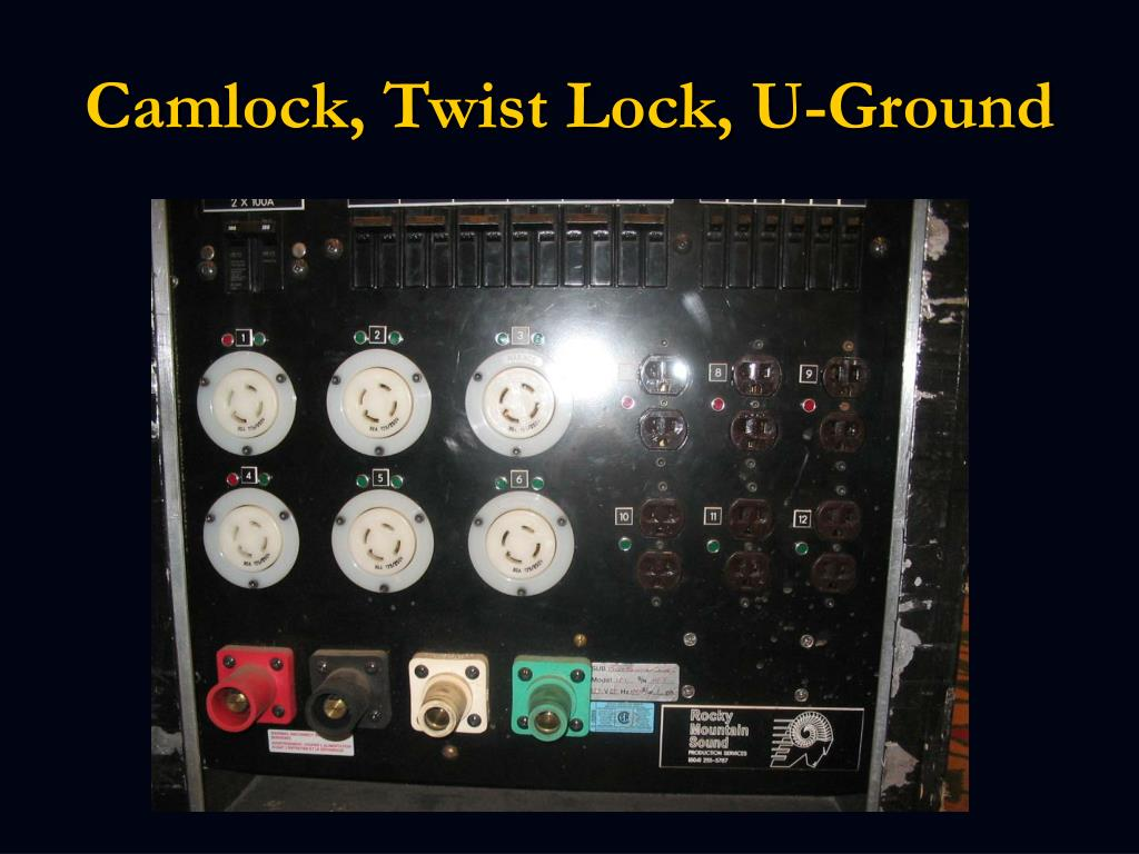 Camlock, Twist Lock, U-Ground