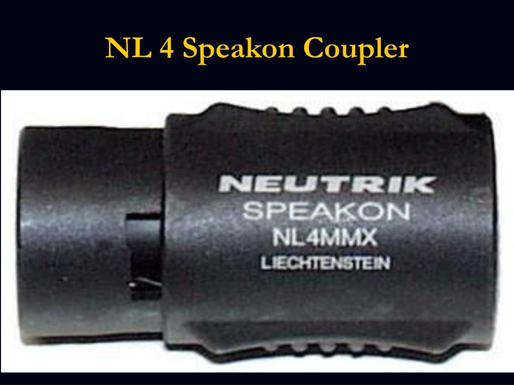 NL 4 Speakon Coupler