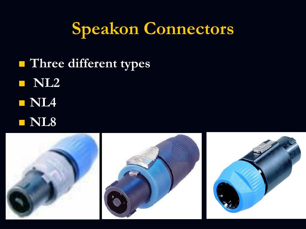 Speakon Connectors