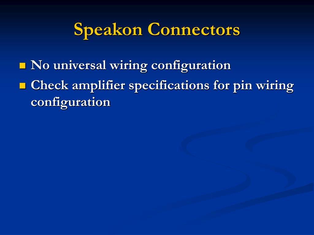 Speakon Connectors