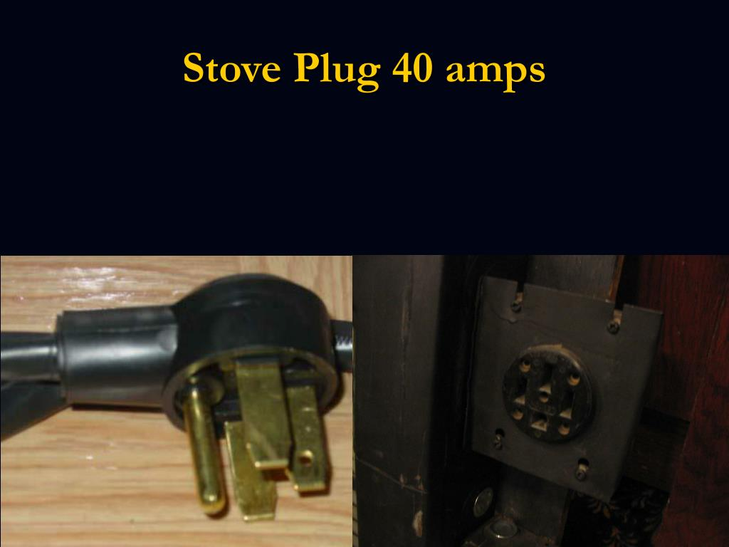 Stove Plug 40 amps