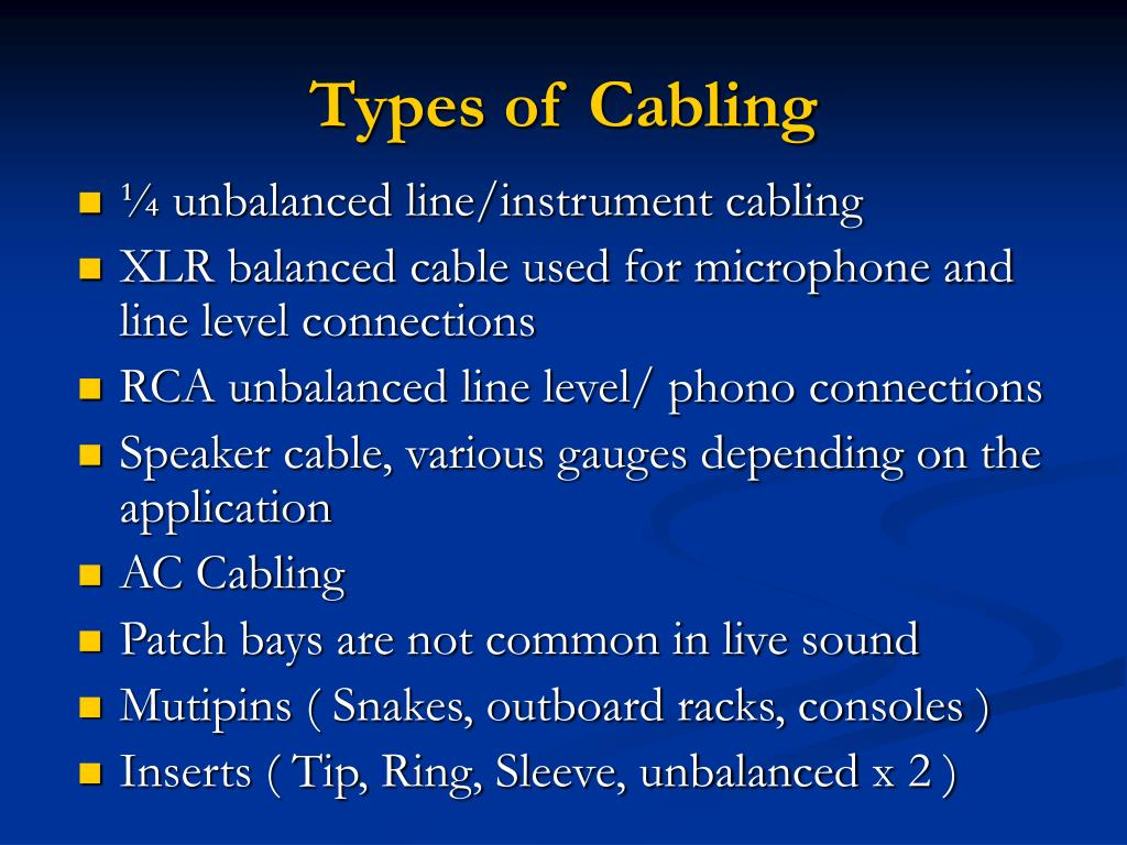 Types of Cabling