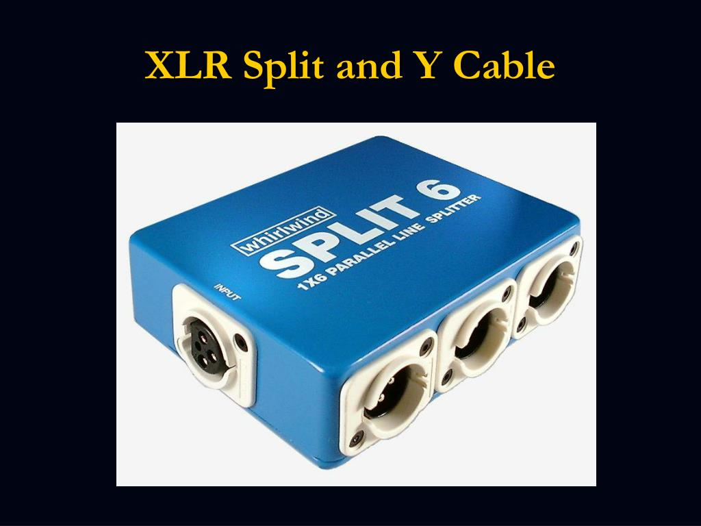 XLR Split and Y Cable