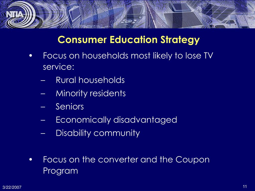 Consumer Education Strategy