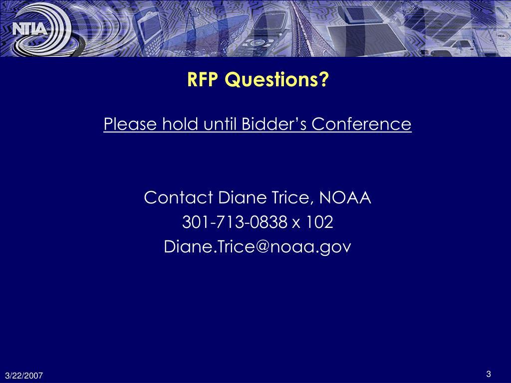 RFP Questions?