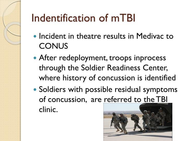 Indentification of mtbi