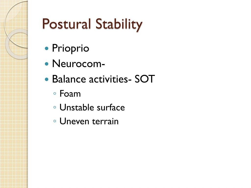 Postural Stability