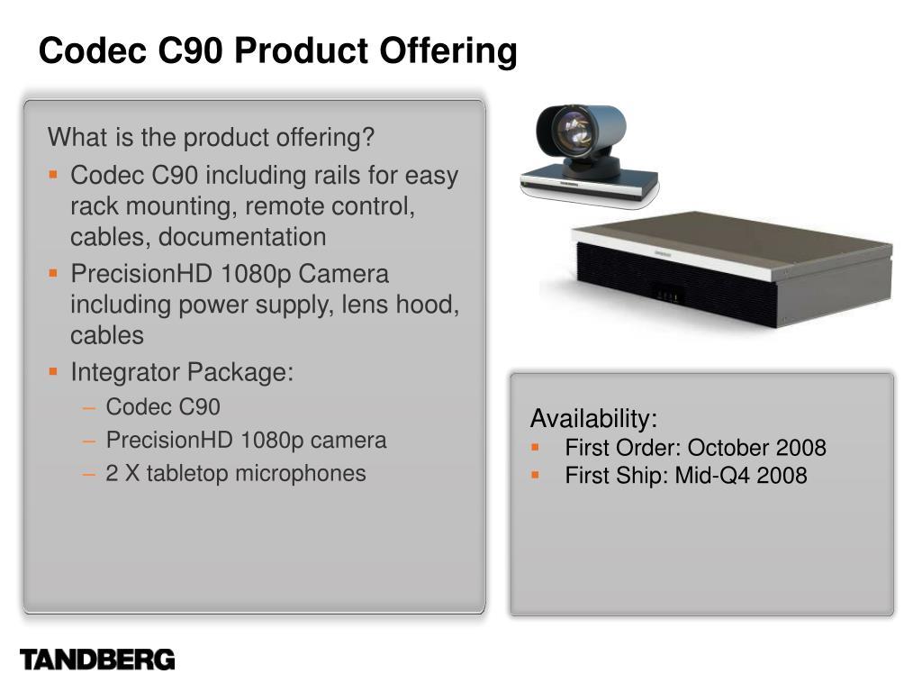 Codec C90 Product Offering