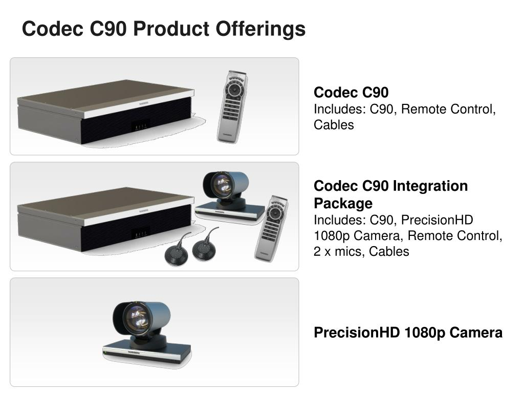 Codec C90 Product Offerings