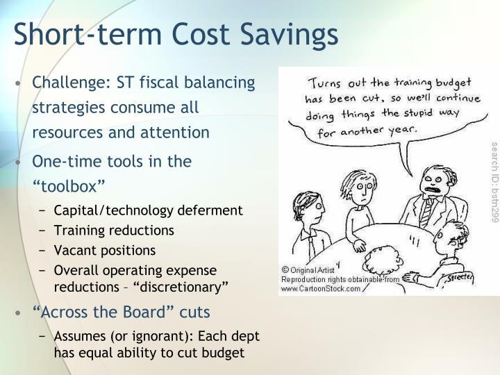 Short-term Cost Savings