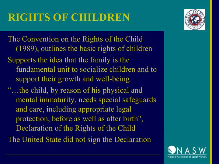 RIGHTS OF CHILDREN