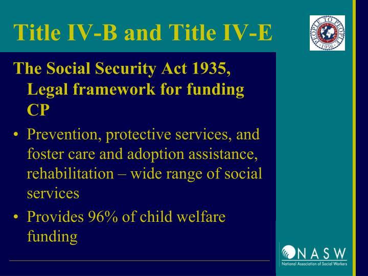 Title IV-B and Title IV-E