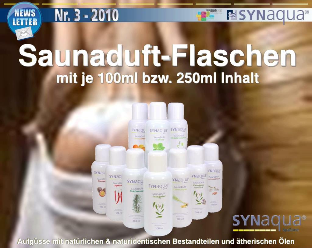 Saunaduft-Flaschen