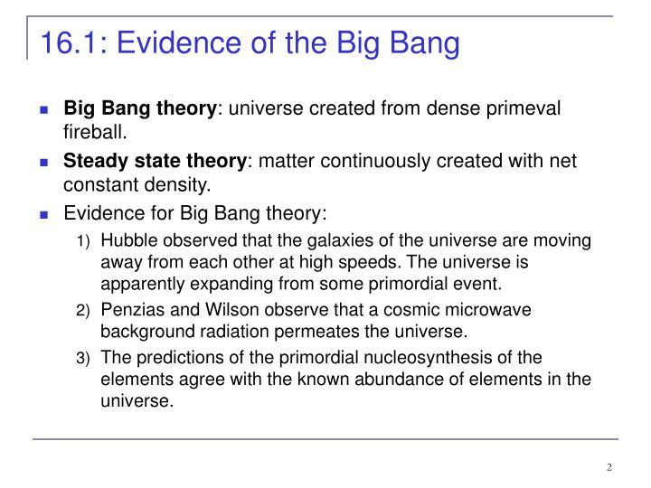 16.1: Evidence of the Big Bang