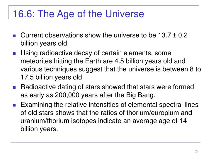 16.6: The Age of the Universe