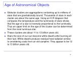 age of astronomical objects