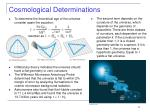 cosmological determinations
