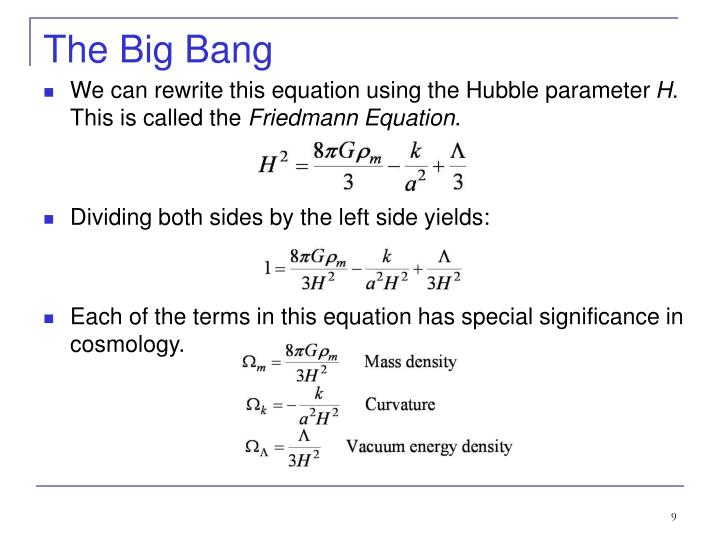 We can rewrite this equation using the Hubble parameter