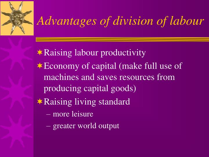 Advantages of division of labour