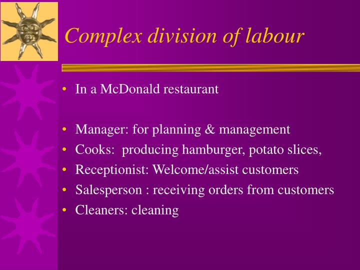 Complex division of labour