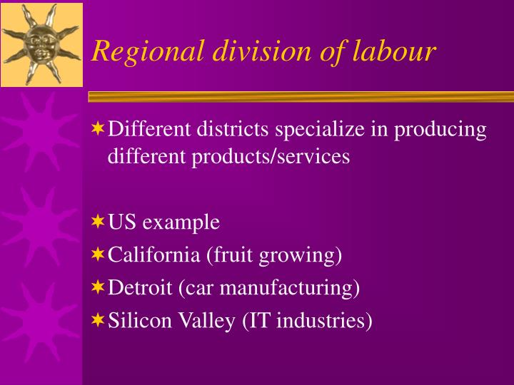 Regional division of labour