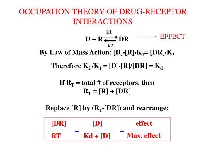 OCCUPATION THEORY OF DRUG-RECEPTOR INTERACTIONS