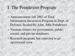 i the poindexter program