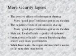 more security lapses