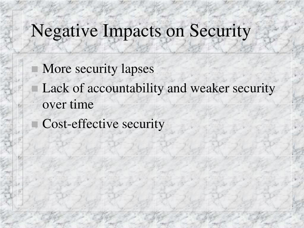 Negative Impacts on Security