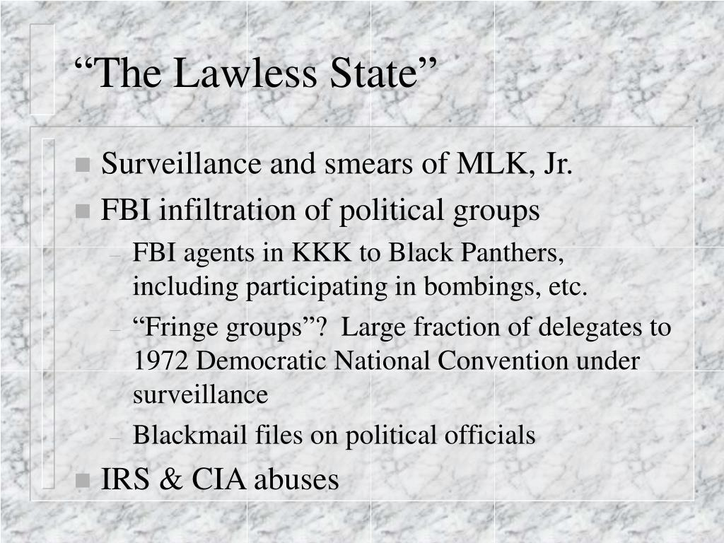"""The Lawless State"""