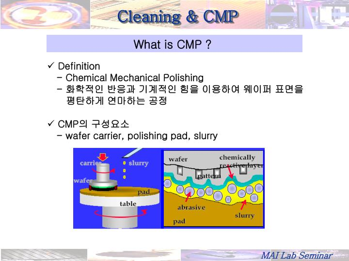 Cleaning & CMP