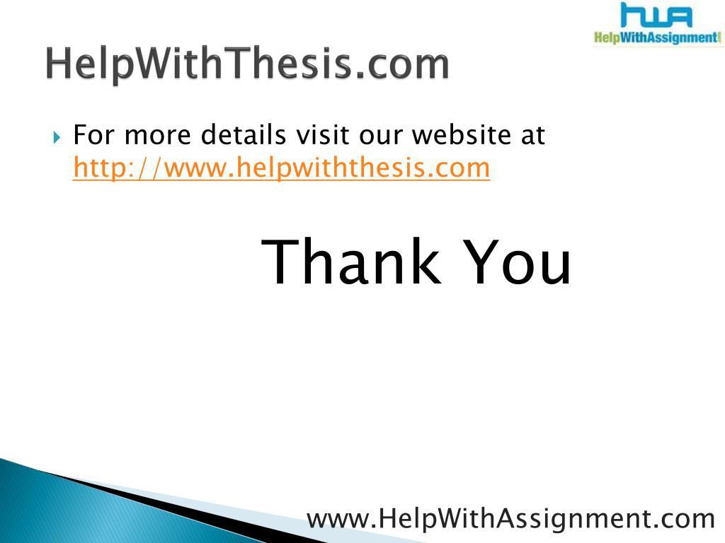 HelpWithThesis.com