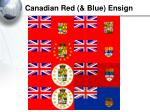 canadian red blue ensign