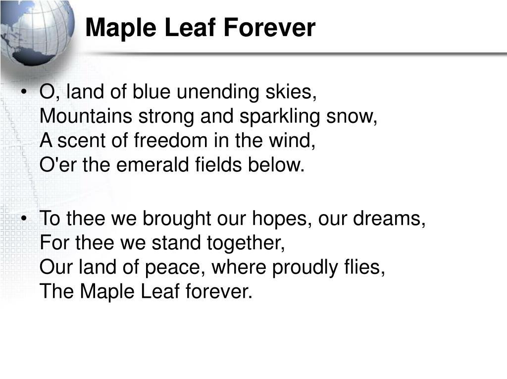Maple Leaf Forever