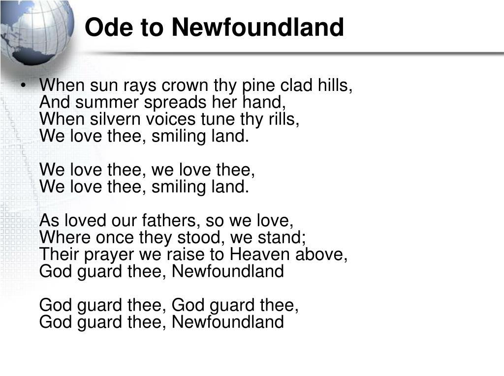 Ode to Newfoundland