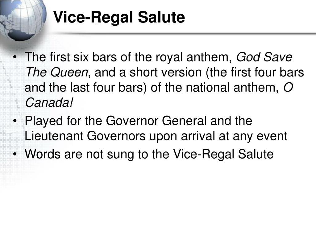 Vice-Regal Salute